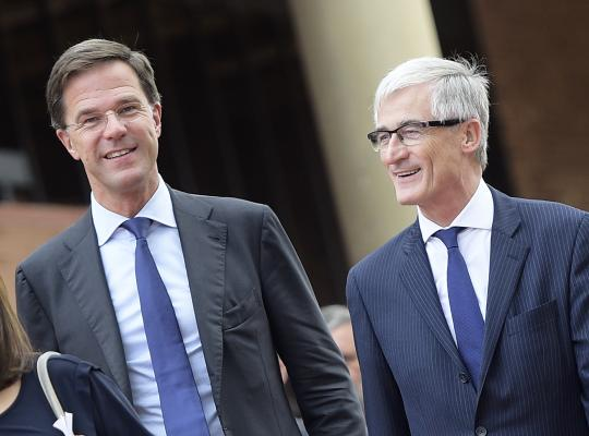 "MP""s Geert Bourgeois en Mark Rutte TOP Ontmoeting 2018"